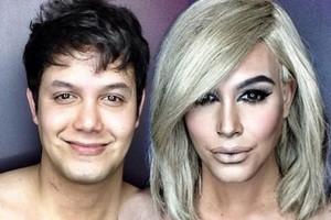 Pria Ini Mengubah Wajahnya Menjadi Kim Kardashian