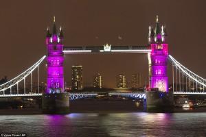Sambut Kelahiran Putri Inggris, Kota Dihias Dengan Warna Pink