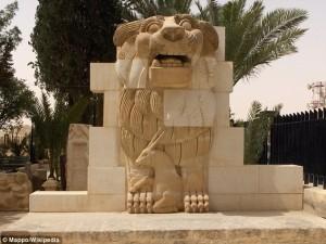 ISIS Hancurkan Patung Dewa Singa Terkenal Di Suriah