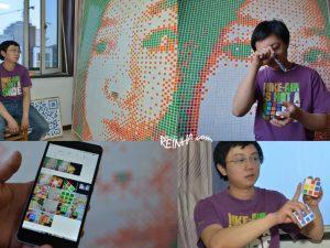 Pria Ini Susun 840 Rubik Menjadi Wajah Wanita Pujaannya