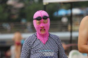 Facekini, Tren Baru Pelindung Wajah Di China