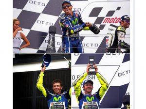 Duel Sengit MotoGP Inggris, Marquez Melebar, Rossi Naik Podium