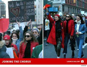 Bella dan Gigi Hadid Bergabung Dalam Protes Larangan Imigran Muslim