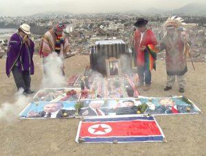 Dukun Peru Lakukan Ritual Untuk Perdamaian AS Dan Korut