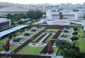 Dukung Kim Jong-Un, Ribuan Pejabat Militer Korut Berkumpul