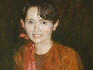 Universitas Oxford Copot Lukisan Aung San Suu Kyi