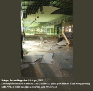 Video Dan Foto Kerusakan Akibat Gempa Bumi Beruntun Di Ambon
