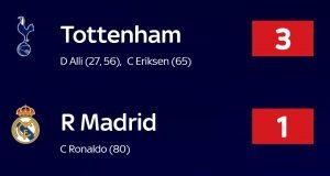 Bantai Real Madrid 3-1, Tottenham Lolos Ke 16 Besar Liga Champions