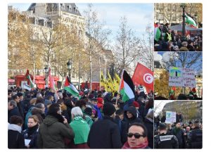 Demonstrasi Pro Palestina Di Paris Menolak Kunjungan Netanyahu