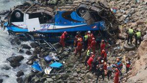 Bus Jatuh Dari Tebing Di Peru, Sedikitnya 25 Orang Tewas