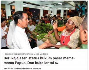 Protes Janji Jokowi, Mama Papua Buat Petisi