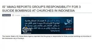 ISIS Klaim Jadi Dalang Bom Gereja Di Surabaya