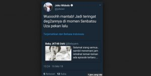 Klarifikasi Cuitan Presiden Jokowi Tentang JKT48