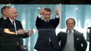 Tidak Bisa Sembunyikan Kebahagiaan, Presiden Perancis Berikan Jempol Untuk Timnas Perancis