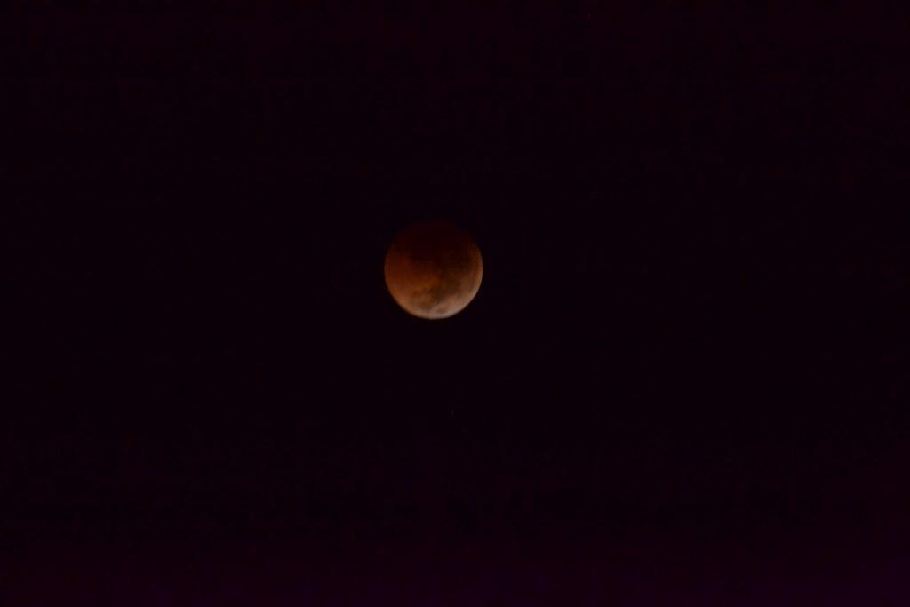 """Ini Dia Penampakan Gerhana Bulan Total""""Blood Moon"""" Di Flores Timur"""