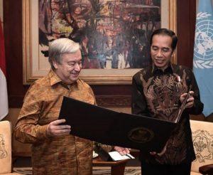 Bertemu Jokowi, Sekjen PBB Ucapkan Dukacita Untuk Korban Gempa Dan Tsunami