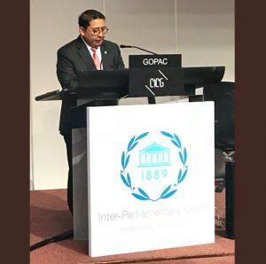 Fadli Zon Menyampaikan Persoalan Korupsi Di Jenewa