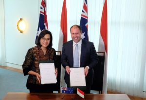Perkuat Hubungan, Sri Mulyani Dan Menteri Keuangan Australia Tandatangani MoU