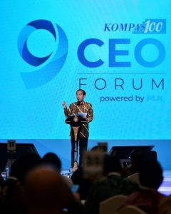 Ekonomi Dunia Dilanda Ketidakpastian, Jokowi Mengajak CEO Bersikap Optimis