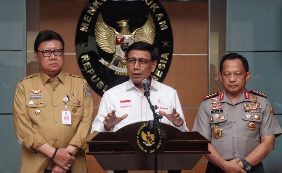 Terkait KKB, Wiranto: Terbuka Peluang Indonesia Melakukan Pendekatan Secara Militer