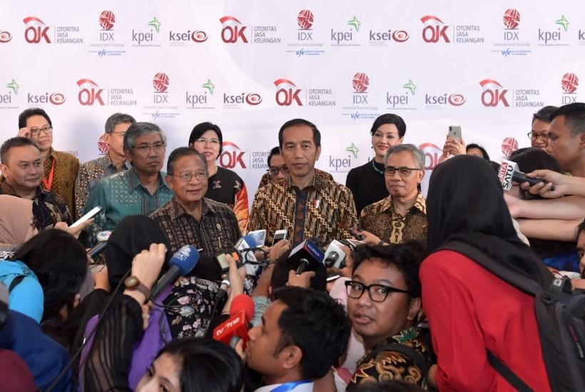 Tutup Perdagangan Bursa 2018, Jokowi: Capaian Sesuai Target
