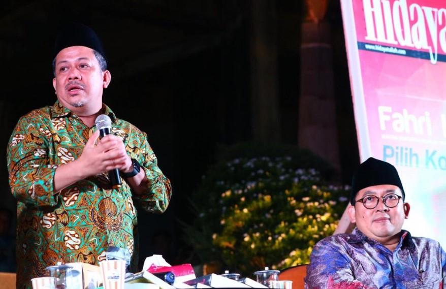 Tanggapi Pidato Prabowo, Fahri Hamzah: Maaf Bapak Gagal