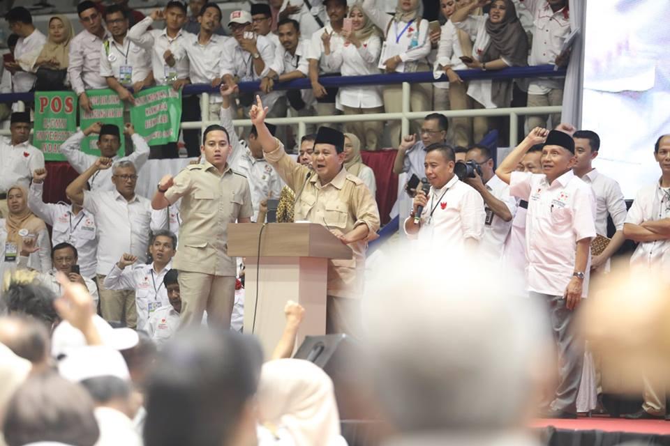 HUT Gerindra Ke-11, Prabowo Subianto: Jadilah Pendekar Yang Terus Berjuang Dan Berjalan Lurus Demi Negara