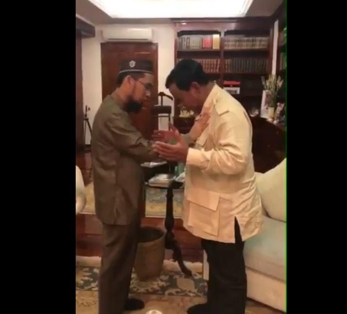 Setelah UAS, Kini UAH Beri Dukungan Kepada Prabowo-Sandi