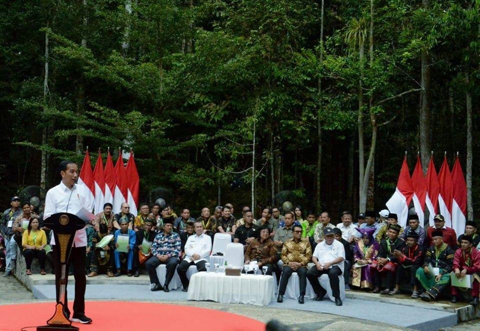 SK Perhutanan Sosial, Jokowi: Saya Akan Terus Bagikan Ke Rakyat Kecil
